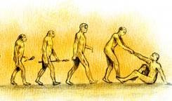 evolution morality connection human being compassion