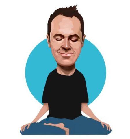 Jeff Warren sitting in meditation